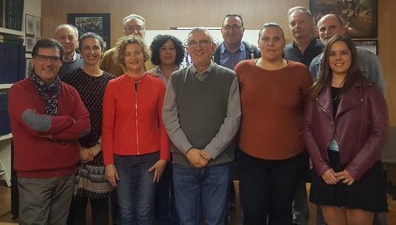 Parte de la nueva directiva de la Asociación de Prensa de Almería 2018