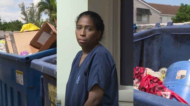 Rafaelle Alessandra Carbalho Sousa, es acusada en la Florida de poner a su bebé recién nacido en una bolsa de basura y tirarlo al contenedor de basura